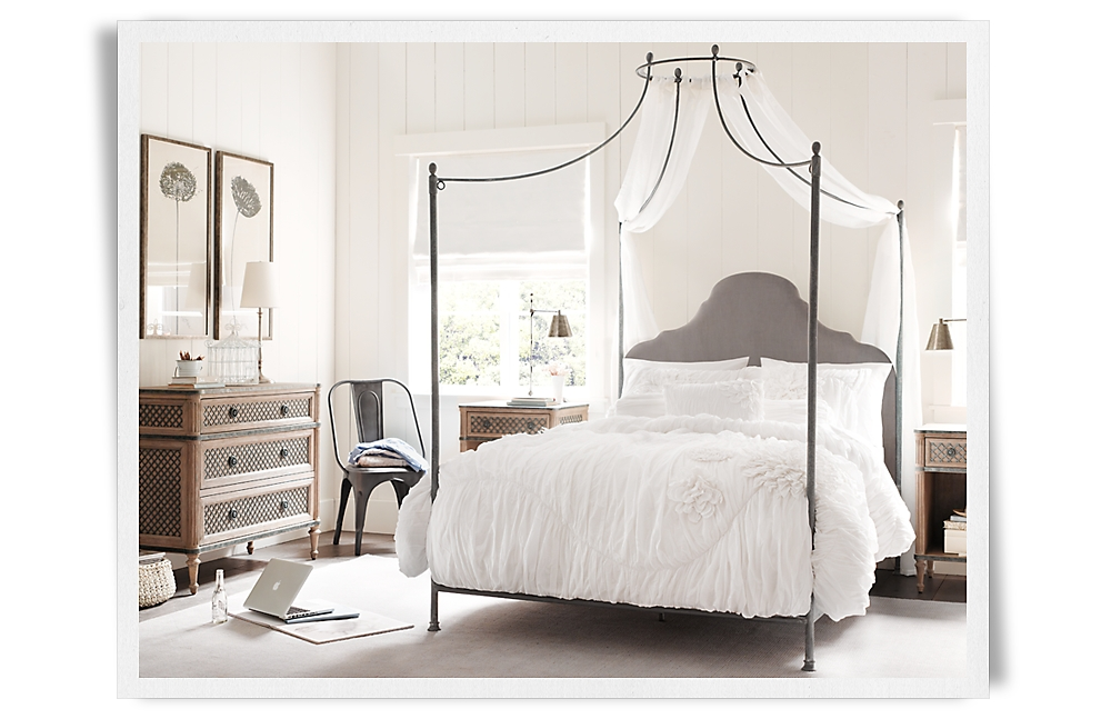 Rooms restoration hardware baby child for Childrens iron beds