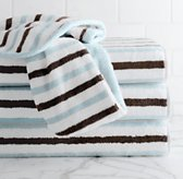 Contrast Stripe Hand Towels