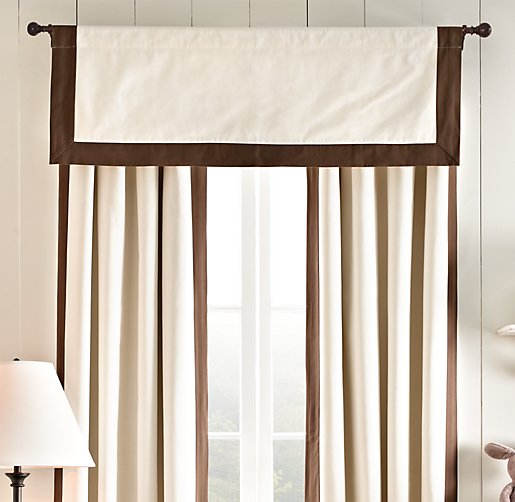 Bordered Cotton Canvas Valance