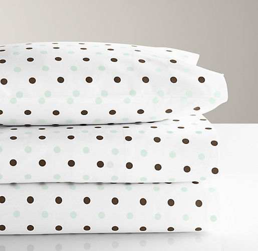 Italian Contrast Dot Crib Fitted Sheet