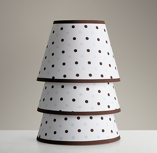 Polka Dot English Barrel Shade Small