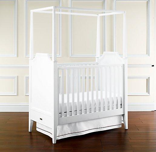 white crib canopy