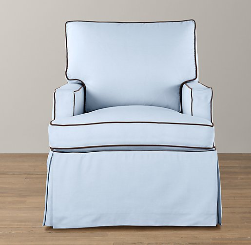 Track Arm Swivel Glider With Slipcover