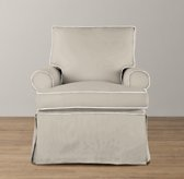 Roll Arm Swivel Glider With Slipcover
