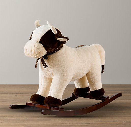 Cuddle Plush Cow Rocker