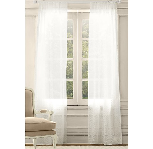 Sheer Medallion Drapery Panel