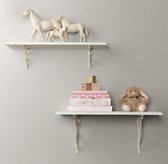 Distressed Wood Shelves