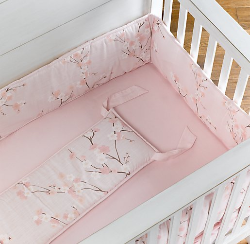 European Cherry Blossom Crib Bumper