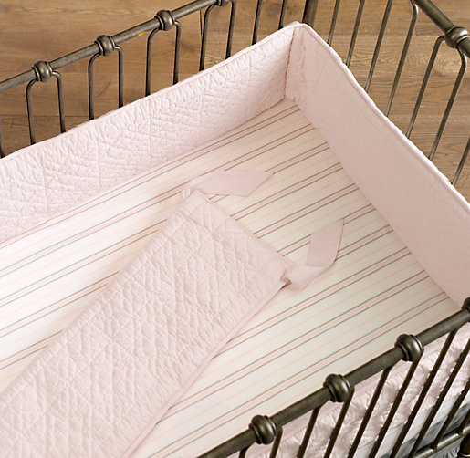 Heirloom Quilted Voile Crib Bumper