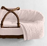 Heirloom Quilted Voile Moses Basket Bedding