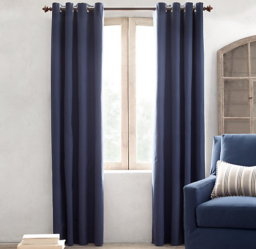 Grommet Cotton Canvas Drapery Panel