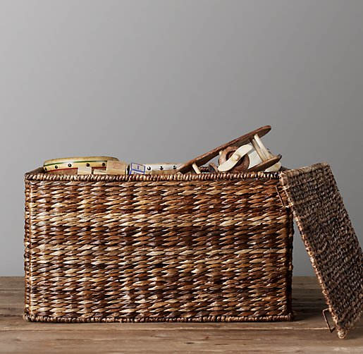 Seagrass Closed Toy Basket