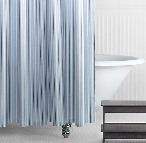 Tailored Stripe Shower Curtain