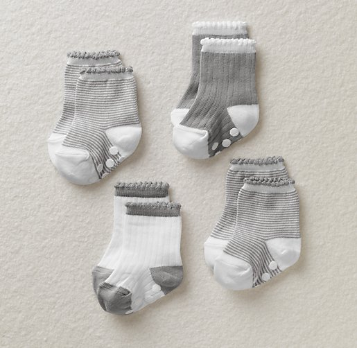 Stripe Socks Set of 4