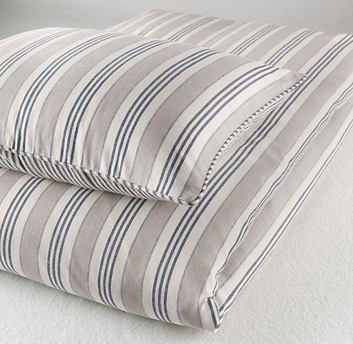 Vintage Ticking Stripe Sham