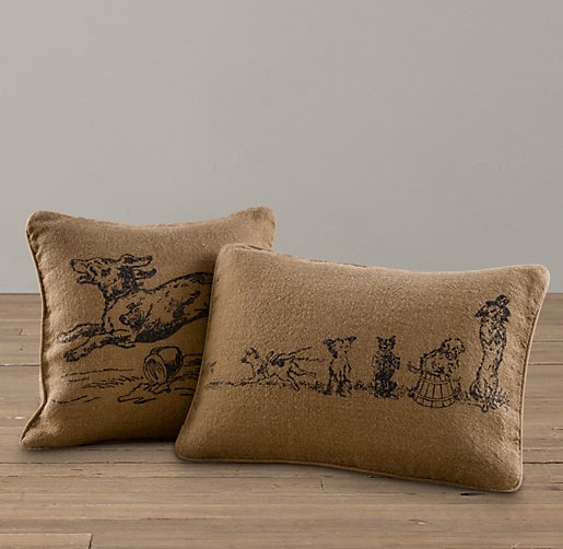 Dog Prints Pillow Cover & Insert