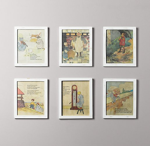 Nursery Rhymes Art Set of 6