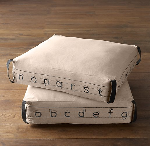 ABC Canvas Floor Pillow