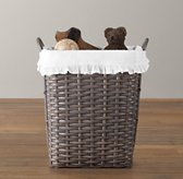 Weathered Rattan Hamper