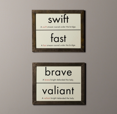 Vintage Synonym Flashcard Art