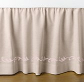 European Embroidered Trellis Crib Skirt