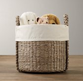 Textured Cotton Seagrass Oversized Toy Basket Liner