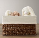 Textured Cotton Seagrass Closed Toy Basket Liner