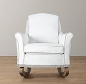Roll Arm Rocker With Slipcover