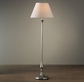 Candlestick Floor Lamp Antique Pewter