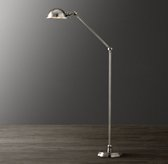 Academy Task Floor Lamp Antique Brushed Nickel