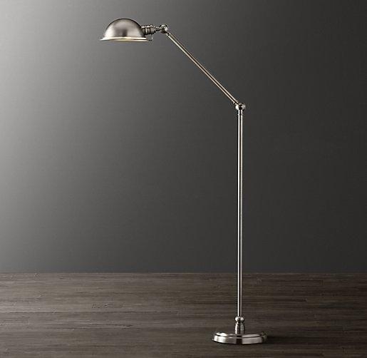 academy task floor lamp antique brushed nickel