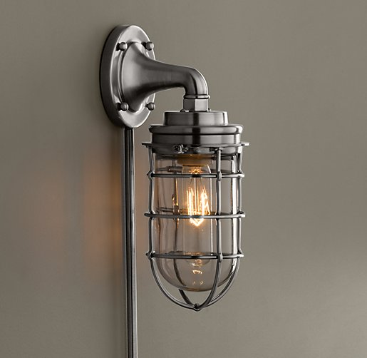 Mariner's Sconce Antique Brushed Nickel