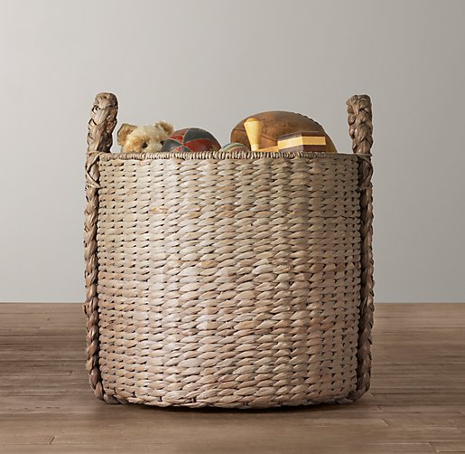 Seagrass Oversized Toy Basket - Ash