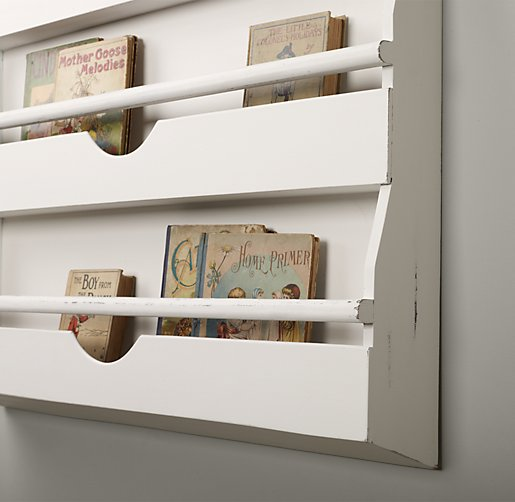 White Wall Book Rack 515 x 502