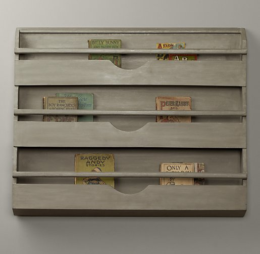 Weathered Wall Bookrack