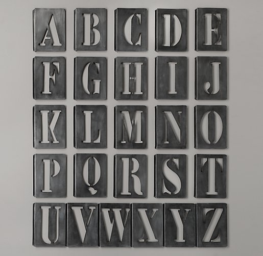 Metal stencils image search results for Metal stencil set letters
