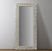 Vintage Hand-Carved Full Length Mirror