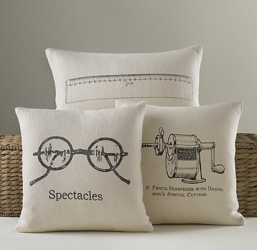 Schoolhouse Linen Pillow Covers