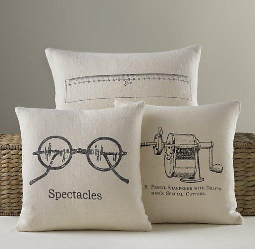 Schoolhouse Linen Pillow Covers