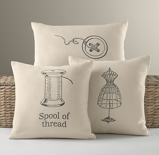 Dressmaker Linen Pillow Covers