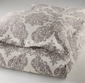 European Vintage-Washed Damask Matelassé Sham