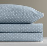 European Anchor Print Crib Fitted Sheet