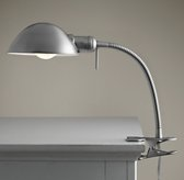 Typesetter's Task Clip Lamp Brushed Steel