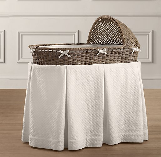 Heirloom Wicker Bassinet & Mattress