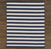 Striped Braided Wool Rug