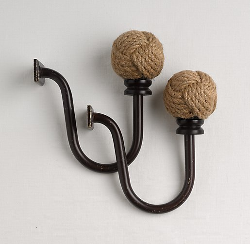 Jute Rope Tiebacks Set of 2