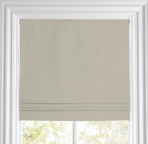 Cotton Canvas Cordless Roman Shade