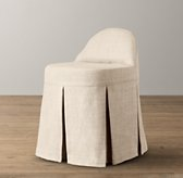 Maxine Slipcovered Vanity Stool