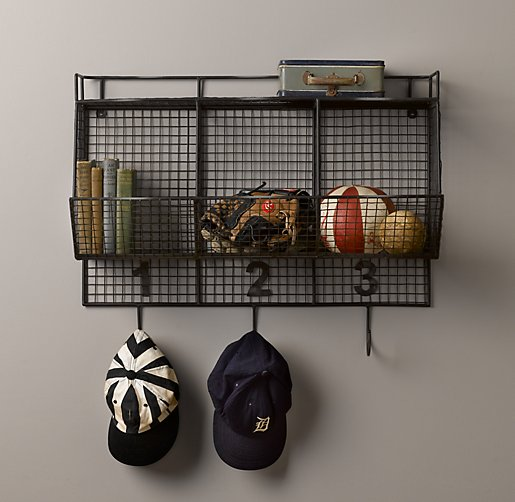 Industrial Numbered Cubby Shelf