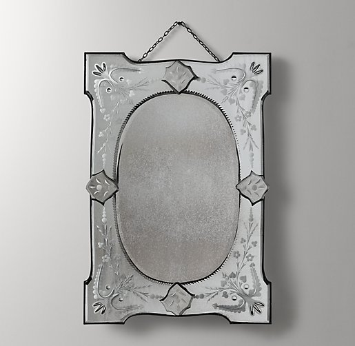 Distressed Wall Mirror - Rectangle